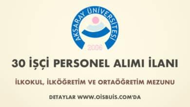 Aksaray Üniversitesi 30 İşçi Alımı