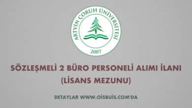 Artvin Çoruh Üniversitesi Sözleşmeli 2 Büro Personeli Alımı İlanı (Lisans Mezunu)