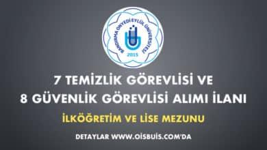 Bandırma Onyedi Eylül Üniversitesi 7 Temizlik Görevlisi ve 8 Güvenlik Görevlisi Alımı İlanı