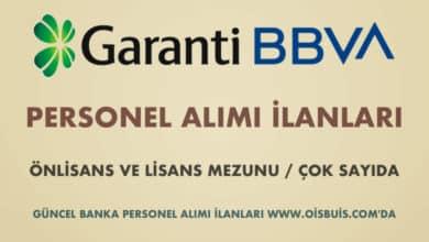 Garanti BBVA 2020 Şubat Ayı Personel Alımı