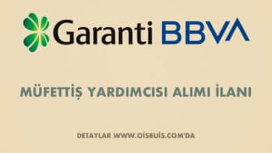 Photo of Garanti BBVA Müfettiş Yardımcısı Alımı İlanı (Son Başvuru Tarihi: 22 Mart 2020)