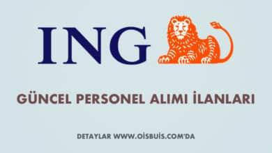ING Bank 2020 Şubat Ayı Personel Alımı