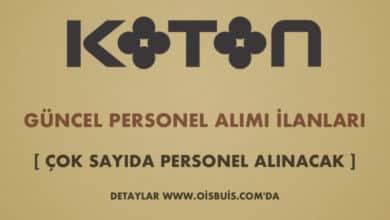 Photo of Koton Personel Alımı Şubat ve Mart Ayı 2020