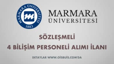 Marmara Üniversitesi Sözleşmeli 4 Bilişim Personeli Alımı