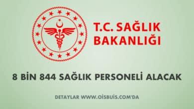 Sağlık Bakanlığı 8 Bin 844 Sağlık Personeli Alacak