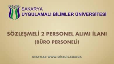 Sakarya Uygulamalı Bilimler Üniversitesi Sözleşmeli 2 Personel Alımı