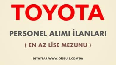 Toyota 2020 Şubat Ayı Personel Alımı