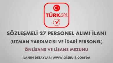 Türk Akreditasyon Kurumu Sözleşmeli 27 Personel Alımı