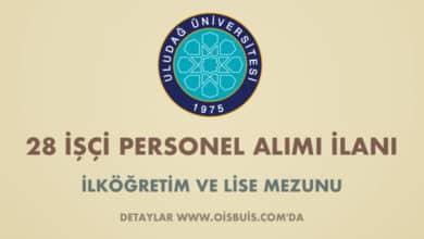 Uludağ Üniversitesi 28 İşçi Alımı İlanı (Son Başvuru Tarihi: 14.02.2020)