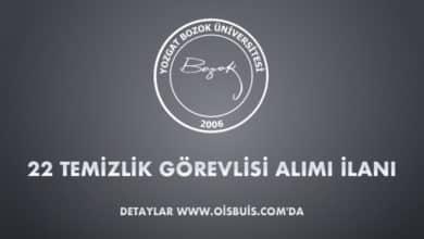 Bozok Üniversitesi 22 Temizlik Görevlisi Alımı