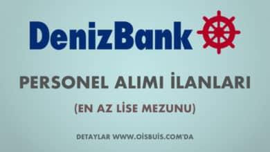 DenizBank 2020 Mart Ayı Personel Alımı