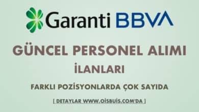 Garanti BBVA 2020 Mart Ayı Personel Alımı