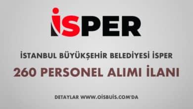 İstanbul Büyükşehir Belediyesi İSPER 260 Personel Alımı