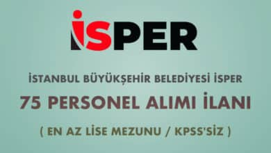 İstanbul Büyükşehir Belediyesi İSPER 75 Personel Alımı