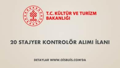 Kültür ve Turizm Bakanlığı 20 Stajyer Kontrolör Alımı