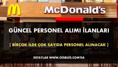 McDonald's 2020 Mart Ayı Personel Alımı