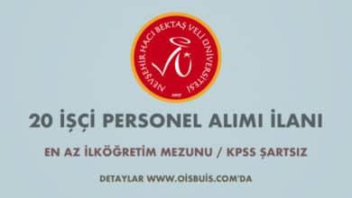 Nevşehir Hacı Bektaş Veli Üniversitesi 20 İşçi Alımı İlanı