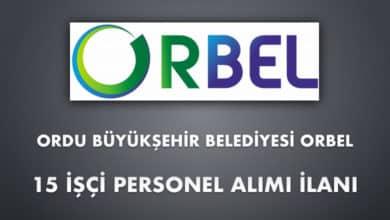 Ordu Büyükşehir Belediyesi ORBEL 15 İşçi Personel Alımı