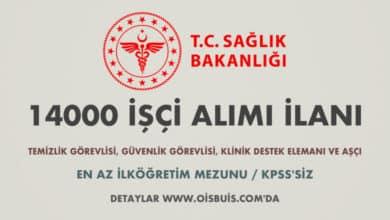 Sağlık Bakanlığı 14000 İşçi Alımı