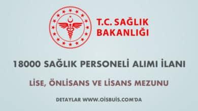 Sağlık Bakanlığı Sözleşmeli 18000 Sağlık Personeli Alımı