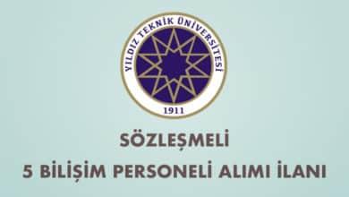 Yıldız Teknik Üniversitesi Sözleşmeli 5 Bilişim Personeli Alımı