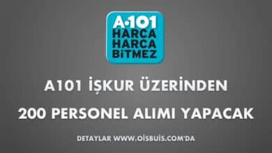 A101 İŞKUR Üzerinden 200 Personel Alımı