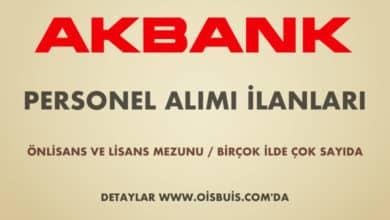 Akbank 2020 Nisan Ayı Personel Alımı