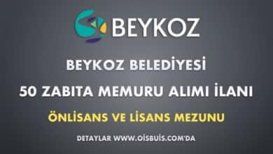 Beykoz Belediyesi 50 Zabıta Memuru Alımı