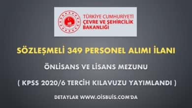 Çevre ve Şehircilik Bakanlığı Sözleşmeli 349 Personel Alımı