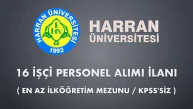 Harran Üniversitesi 16 İşçi Alımı