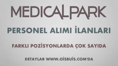 Medical Park Hastaneler Grubu 2020 Nisan Ayı Personel Alımı