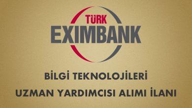 Türk Eximbank 2020 Bilgi Teknolojileri Uzman Yardımcısı Alımı
