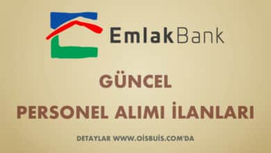 Türkiye Emlak Katılım Bankası 2020 Nisan Ayı Güncel Personel Alımı