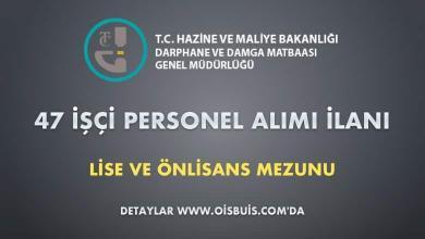 Darphane ve Damga Matbaası Genel Müdürlüğü 47 İşçi Personel Alımı