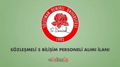 Süleyman Demirel Üniversitesi Sözleşmeli 5 Bilişim Personeli Alımı