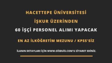 Hacettepe Üniversitesi İŞKUR Üzerinden 60 İşçi Personel Alımı
