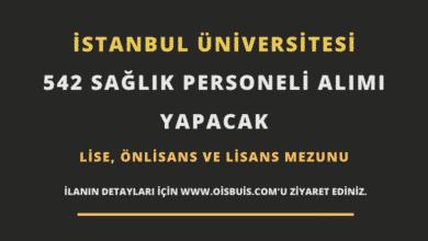 İstanbul Üniversitesi Sözleşmeli 542 Sağlık Personeli Alımı