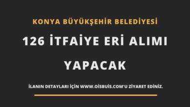 Konya Büyükşehir Belediyesi 126 İtfaiye Eri Alımı
