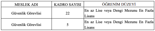 Selçuk Üniversitesi 27 Güvenlik Görevlisi Alımı Detayları