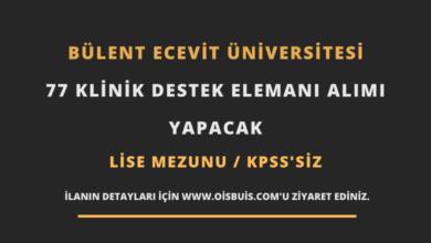 Bülent Ecevit Üniversitesi 77 Klinik Destek Elemanı Alımı