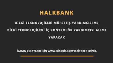 Halkbank Bilgi Teknolojileri Müfettiş Yardımcısı ve Bilgi Teknolojileri İç Kontrolör Yardımcısı Alımı