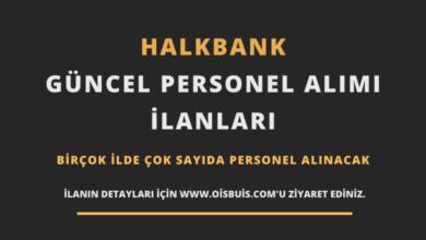 Halkbank Güncel Personel Alımı İlanları