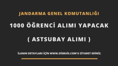Photo of Jandarma Genel Komutanlığı 1000 Öğrenci Alımı Yapacak (Astsubay Alımı)