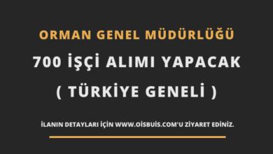 Photo of Orman Genel Müdürlüğü 700 İşçi Alımı Yapacak (Türkiye Geneli)