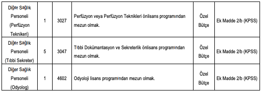 Zonguldak Bülent Ecevit Üniversitesi Sözleşmeli 120 Personel Alımı Detayları 2