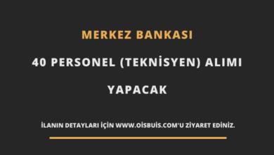 Merkez Bankası 40 Personel (Teknisyen) Alımı