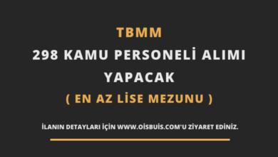 TBMM 298 Kamu Personeli Alımı