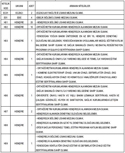 Van Yüzüncü Yıl Üniversitesi 98 Personel Alımı Detayları 1