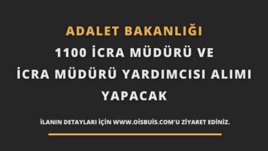 Adalet Bakanlığı 1100 İcra Müdür ve İcra Müdür Yardımcısı Alımı