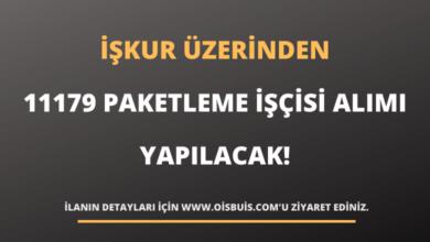 İŞKUR Üzerinden 11179 Paketleme İşçisi Alımı Yapılacak!